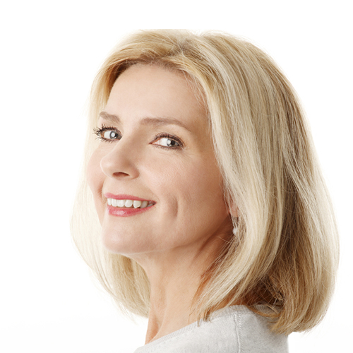 Woman with great, natural-looking hair